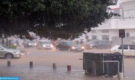 Des chutes de neige, des averses orageuses et de fortes pluies prévues du lundi au mercredi dans plusieurs provinces du Royaume