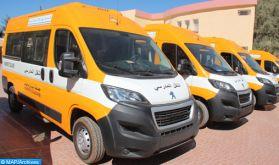 INDH : Remise de bus de transport scolaire à des communes de la province de Khouribga