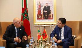 M. Bourita s'entretient à Marrakech avec son homologue portugais