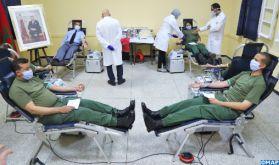 Salé: Campagne de don de sang au Centre d'instruction intendance des FAR
