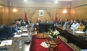 Réunion sur l'état d'avancement des projets sectoriels dans la province d'Aousserd