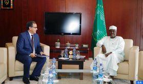 Les actions du Maroc en matière de paix et de sécurité et de lutte contre le changement climatique, saluées par Moussa Faki