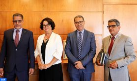 Mme Akharbach s'entretient à Rabat avec le président de la Haute autorité de la presse et de l'Audiovisuel de Mauritanie