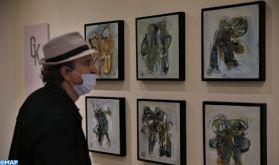 """Vernissage à Tanger de l'exposition """"Intimo"""" de l'artiste peintre Ahmed Amrani"""