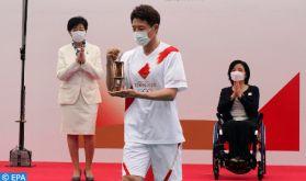 JO de Tokyo: la cérémonie de la flamme olympique à huis clos
