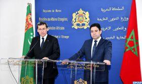 Le Maroc et le Turkménistan réitèrent leur attachement à la défense de la souveraineté nationale et de l'intégrité territoriale des États souverains (communiqué conjoint)