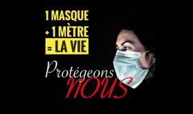 """Des personnalités soutiennent la campagne """"1 Masque+1 Mètre= La Vie"""""""