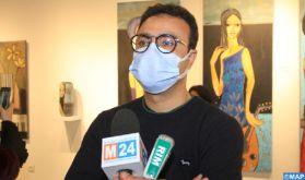 """Casablanca: """"Femme enchanté"""", première expo individuelle de Mohamed Essoulimani"""