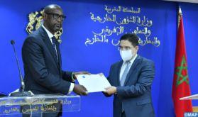 M. Bourita reçoit son homologue malien, porteur d'un message écrit à SM le Roi du président de la transition du Mali