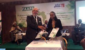 """Signature à Praia d'un accord de coopération entre la MAP et l'agence """"INFORPRESS"""""""