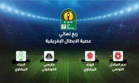 Ligue des champions (1/4 de finale): Le Raja contre le TP Mazembe, le WAC face à l'Etoile du Sahel