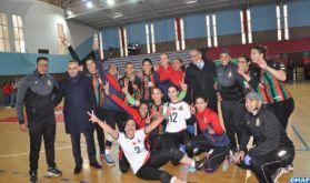 Coupe du Trône de volleyball (Dames): L'AS FAR a remporté le titre aux dépens du Difaâ d'El Jadida