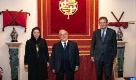 Les œuvres et initiatives proactives de SM le Roi hautement saluées par le Souverain de l'Ordre de Malte