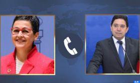 M. Nasser Bourita s'entretient avec son homologue espagnole