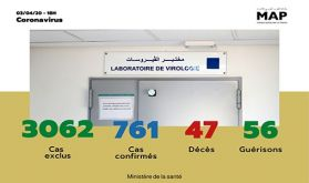 Covid-19: 70 nouveaux cas confirmés au Maroc, 761 au total
