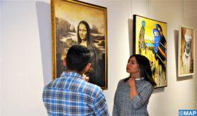 Vernissage d'une exposition collective d'artistes peintres de la région Béni Mellal-Khénifra