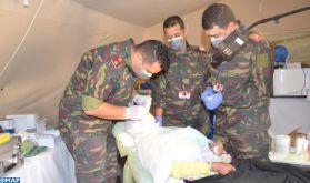 """""""African Lion 2021"""" : déploiement d'un hôpital médicochirurgical de campagne près de Tafraout"""