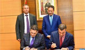 Signature d'une convention à Rabat portant sur l'appui de l'éducation par le basketball