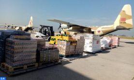Arrivée à Beyrouth du 2è lot des aides alimentaires destinées sur hautes instructions royales aux forces armées et au peuple libanais