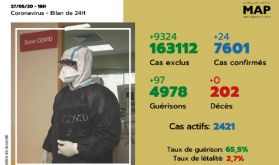 Covid-19: 24 nouveaux cas confirmés au Maroc, 7.601 au total