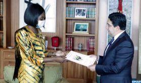 M. Bourita reçoit la ministre des Affaires étrangères de la RCA porteuse d'un message du président centrafricain à Sa Majesté le Roi