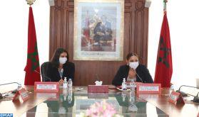 La promotion de la coopération selon une stratégie intégrée au centre d'une réunion de travail entre Mmes Bouchareb et Fettah Alaoui