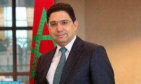 De nouveaux ambassadeurs présentent à M. Bourita les copies figurées de leurs lettres de créance