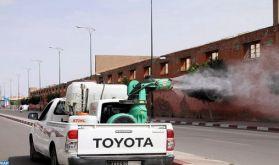 Covid-19 : La campagne de désinfection et de stérilisation des espaces et administrations publics se poursuit à Marrakech