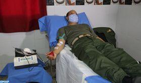 Don de sang: Les éléments des FAR à Ain Harouda se mobilisent pour renflouer les stocks