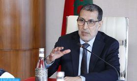 M. El Otmani réitère la fierté du gouvernement des Hautes directives royales et de la cohésion des Marocains face à la pandémie