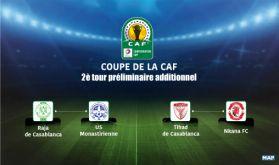 Coupe de la CAF (2è tour préliminaire additionnel) : Le Raja de Casablanca affronte l'US Monastirienne, le TAS hérite du Nkana FC