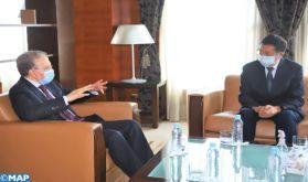 Le nouveau modèle de développement au centre d'entretiens entre M. Lahlimi et l'ambassadeur de Chine à Rabat