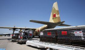 Poursuite du pont aérien avec la Tunisie transportant l'aide médicale d'urgence ordonnée par SM le Roi