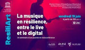 """""""La musique en résilience, entre le live et le digital"""", une visioconférence initiée par l'UNESCO et Visa For Music"""