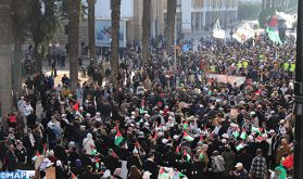 Rabat: Des milliers de personnes marchent en solidarité avec le peuple palestinien