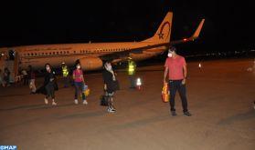 Marocains bloqués à l'étranger : Arrivée à l'aéroport de Béni Mellal d'un groupe de 152 personnes en provenance d'Egypte