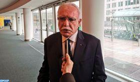 M. Riyad al-Maliki salue à Bruxelles le rôle de SM le Roi dans la protection d'Al-Qods Acharif et l'appui aux Maqdissis