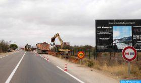 Interruption temporaire de la circulation sur la route régionale reliant Imilchil et Tinghir