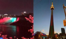 Fête du Trône: les chutes du Niagara et la Tour CN aux couleurs du drapeau marocain