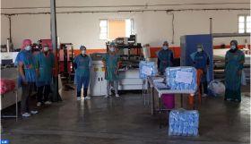 Covid-19 : Une unité industrielle à Chichaoua réoriente son activité vers la production des masques de protection
